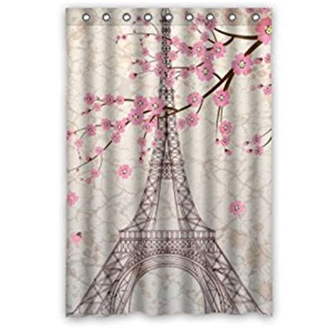 paris shower curtains com paris eiffel tower bathroom shower curtain 48