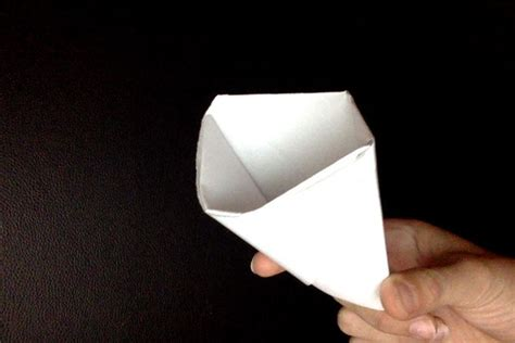 Folding Paper Cup - how to fold a cup from a sheet of paper 5 steps with