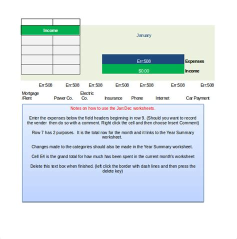 expenditure budget template 8 expenditure budget templates free sle exle