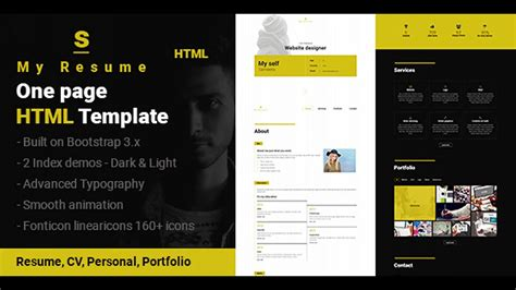 Themeforest One Page Html | s resume cv portfolio one page html template
