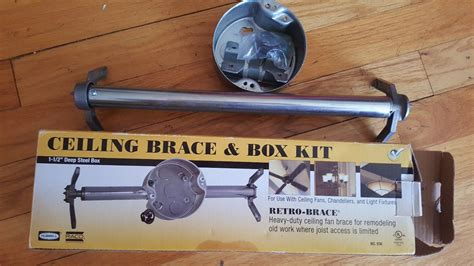installing a ceiling fan brace hubbell ceiling fan brace and box kit heavy duty in
