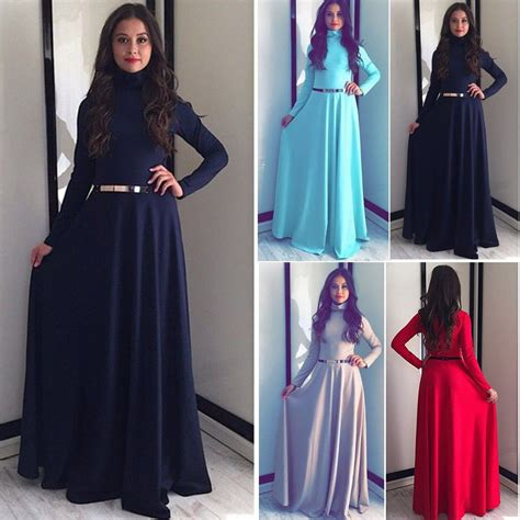 Maxi Dress Muslim Dress Wanita Marissa Maxi kaftan abaya islamic muslim evening sleeve vintage maxi dress ebay