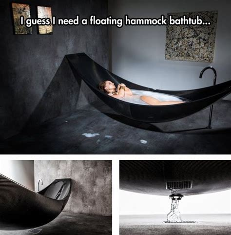 hammock bathtub a hammock and a bath tub there s no place like home