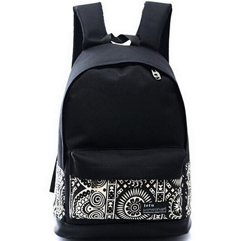 qg7243 korean printing women s canvas backpack printed
