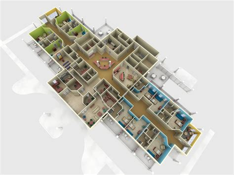 3d floorplan hospice house floor plan photorealistic 3d rendering