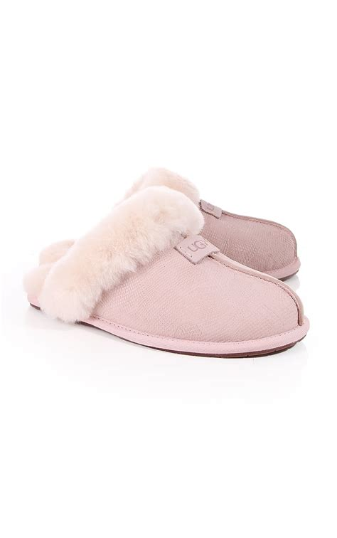 uggs slippers for ugg womens ugg scuffette ii snake slippers pink ugg