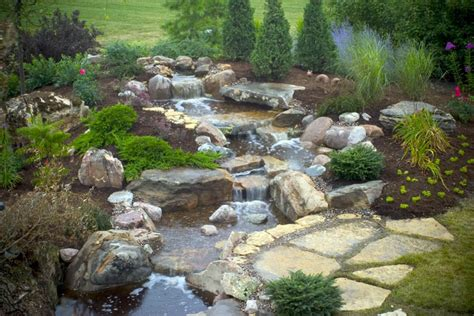 backyard waterfall aquascape your landscape the sound of waterfalls