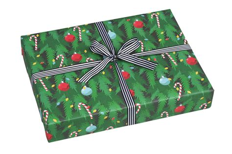 christmas tree christmas wrapping paper by nancy betty