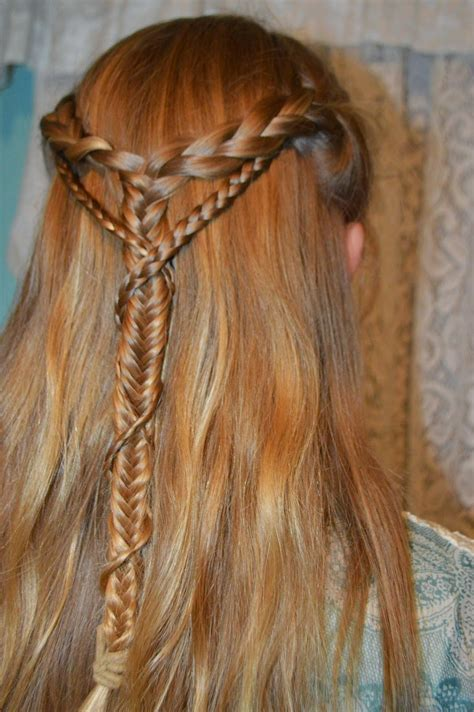 a braid of hair whatsoever things are lovely medieval braid wrapped braid