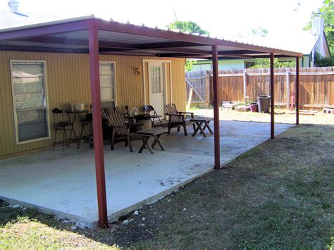 metal porch awnings custom metal patio awning boerne texas carport patio