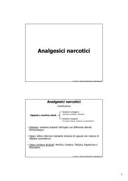 Analgesici non narcotici