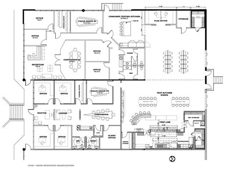 facility floor plan beverage and food ideation fdr