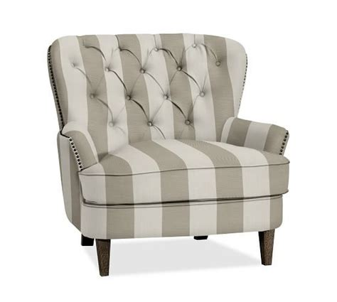 cardiff tufted armchair 17 best images about pottery barn wish list on pinterest mercury glass velvet