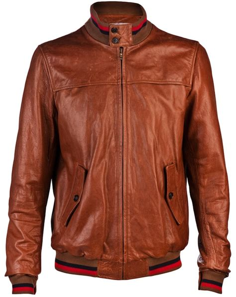 Sweater Consina Usher In Band Of Outsiders Harrington Brown Leather Jacket