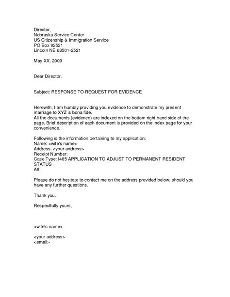 rfe response cover letter best photos of brief cover letter sle request