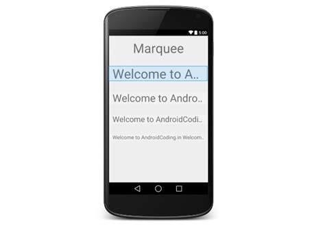 Android Layout Animation Marquee | android tutorial on textview marquee animation