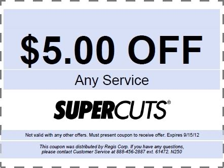 Printable Haircut Coupons