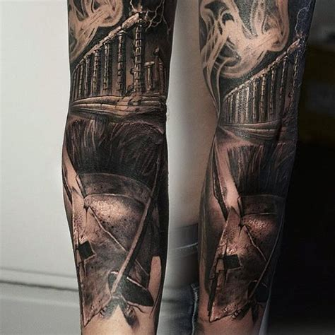 black and gray sleeve tattoo designs black and grey sleeve bdout ancient greece
