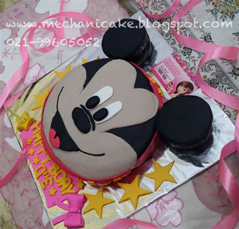 Tasya Mickey mechanicake mickey mouse 3d cake for