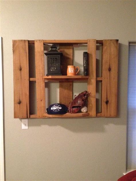 Custom Shelfs by Diy Pallet Custom Built Shelf Pallet Furniture Plans