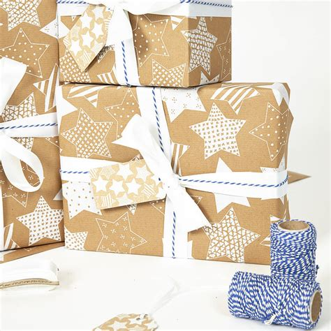 stars christmas gift wrap set by sophia victoria joy