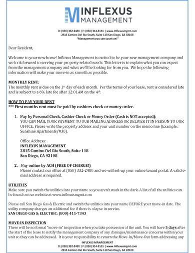 10 Tenant Welcome Letter Templates Pdf Free Amp Premium