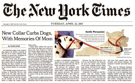 new yorki times new york times gentle leader