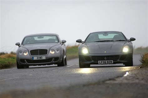 bentley ferrari bentley continental gt v ferrari 599 gtb bentley