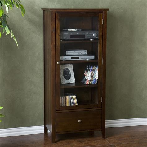 audio video tower cabinet amazon com sei fairmont espresso media tower kitchen