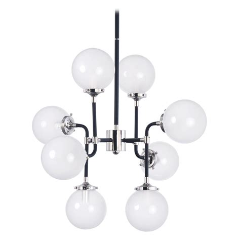 Atom Pendant Light Maxim Lighting Atom Black And Polished Nickel Pendant Light With Globe Shade 24725wtbkpn