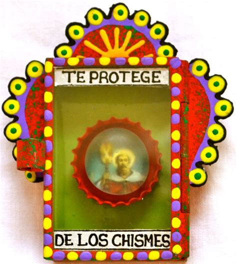 mexican devotional art the nicho 169 mexico import arts protection from gossip saintly mexican matchbox nicho