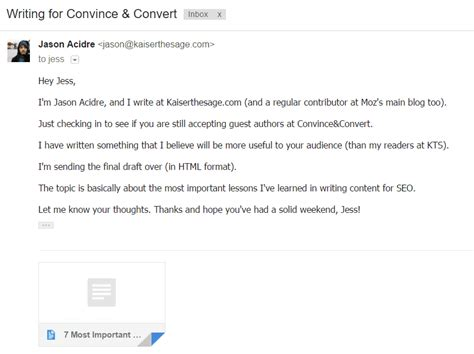 Email Outreach Tips 22 Link Building Email Templates Kaiserthesage Just Checking In Email Template