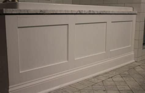 bathtub skirt white paneled tub apron skirt bathroom remodel pinterest