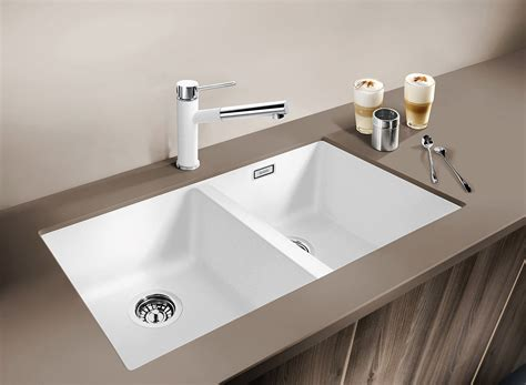 silgranit double bowl undermount sink white cooks plumbing