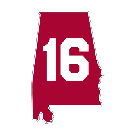 state pictures alabama crimson tide 16 state decal 4 at sport seasons