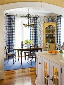 Blue And Yellow Kitchen Curtains Decorating Beautiful Rooms In Blue And White Traditional Home
