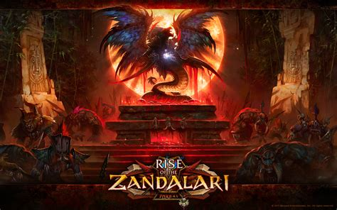 official world of warcraft rise of the zandalari blizzard official wallpaper world of warcraft photo mmosite com