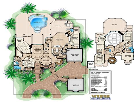 tuscany floor plans tuscan style luxury home plans