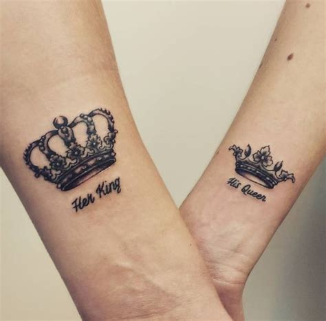 girlfriend tattoo 50 attractive queen tattoos designs for women 2017