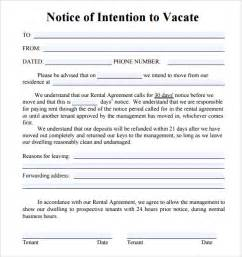 Letter Of Intent Quit Notice To Vacate Letters 8 Free Documents In Pdf Word