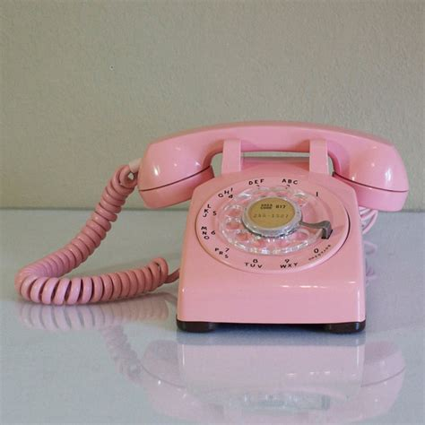 1961 pink 500 desk phone by western electric fab