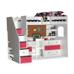 Bunk Bed With Desk And Storage Utica Loft Bed With Desk And Storage Wayfair
