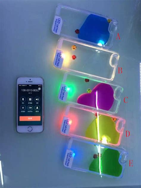 Water Glitter Redmi 3 Pro 3 S iphone 6 6 plus 5s 5 6s 6s plus liquid flash led