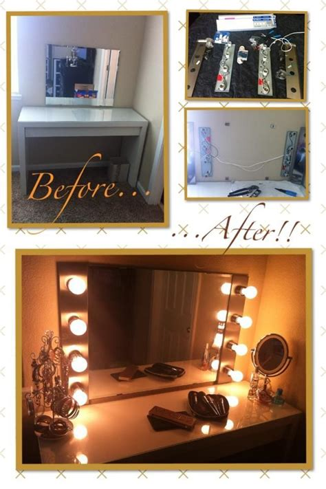 Diy Vanity Lights Diy Makeup Vanity Light Mirror With Click Remote To Turn Lights On Makeup Vanity