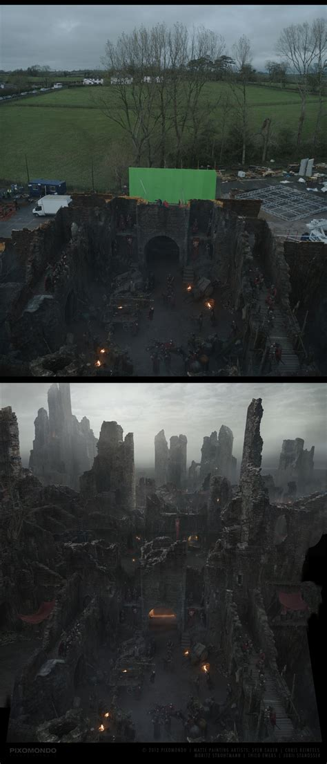 matte painting in of thrones matte painting
