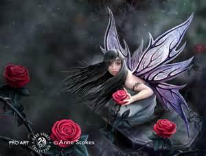 Disney Fairies Wall Mural anne stokes rose fairy rfasw001