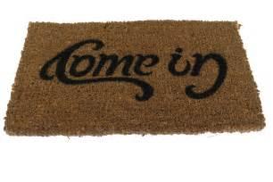 Welcome Go Away Doormat Doormat Come In Amp Go Away Quot Ambigram Quot