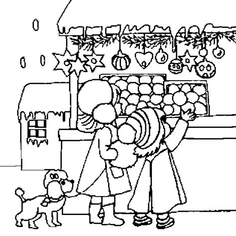Christmas Coloring Christmas Coloring Decorations Market Coloring Pages