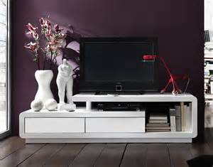meuble tv design laqu 233 blanc blanc 170 cm