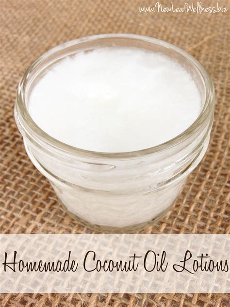 Handmade Lotion Recipes - coconut lotion recipe new leaf wellness
